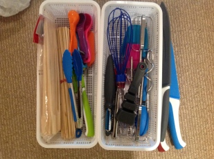 E Second cutlery drawer on right