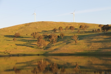 Close to sunset view across Carcoar Lake (NSW)