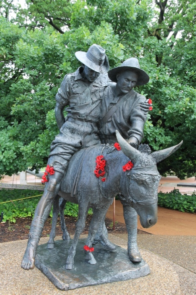 Canberra War Memorial - Statue of Simpson and his donkey