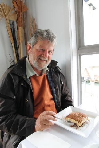 Wildfish Restaurant - Pete enjoying his tiramisu
