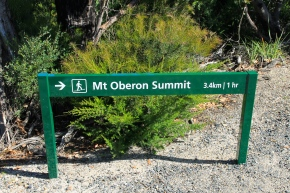 Mt Oberon - Why didn't we notice this sign at the start of our climb?