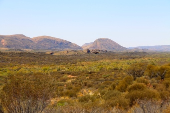 View From Namatjira Drive On Way To Ochre Pits (NT)