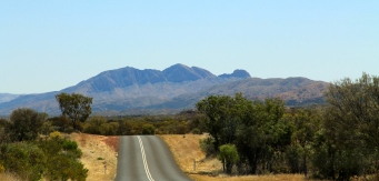 Mount Sonder Seen From Namatjira Drive (NT)