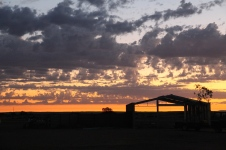Marree - Drovers Run Tourist Park Sunset (SA)