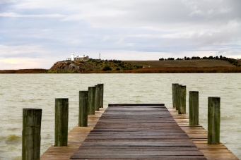 Narrung Jetty on Lake Alexandrina (SA)