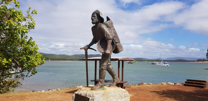 Cooktown - 'Mick The Miner' statue, commemorates the arrival of the first miners at the Palmer River Goldfields (Qld)