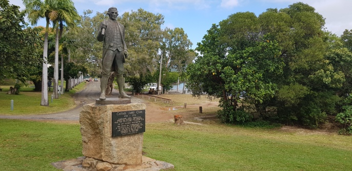 Cooktown - James Cook Statue – marks the site of the Re-enactment of Cook's Landing, which takes place every June. (Qld)