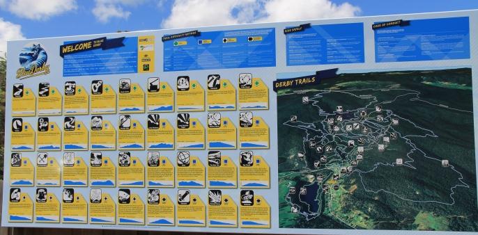 Derby - Mountain Bike Tracks Map (Tas)