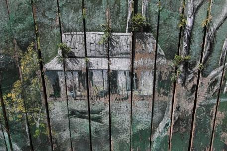 Derby - Old Fence Paling Mural (Tas)
