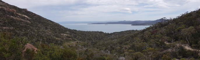 Wineglass Bay Lookout - View To Coles Bay (Tas)