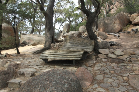 Wineglass Bay Lookout -'A Seat For The Weary' (Tas)