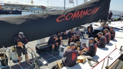 Hobart - 'Comanche' Crew Having A Well Deserved Burger - Sydney To Hobart Yacht Race (Tas)