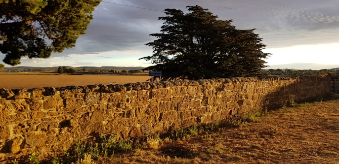 Oatlands - Historic Wall At Sunset (Tas)