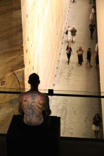 Hobart - MONA - Museum Of Old And New Art -Tattoo Man Exhibit (Tas)