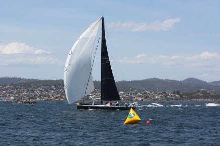 Hobart - 'Alive' Crossing The Finish Line - Sydney To Hobart Yacht Race (Tas)